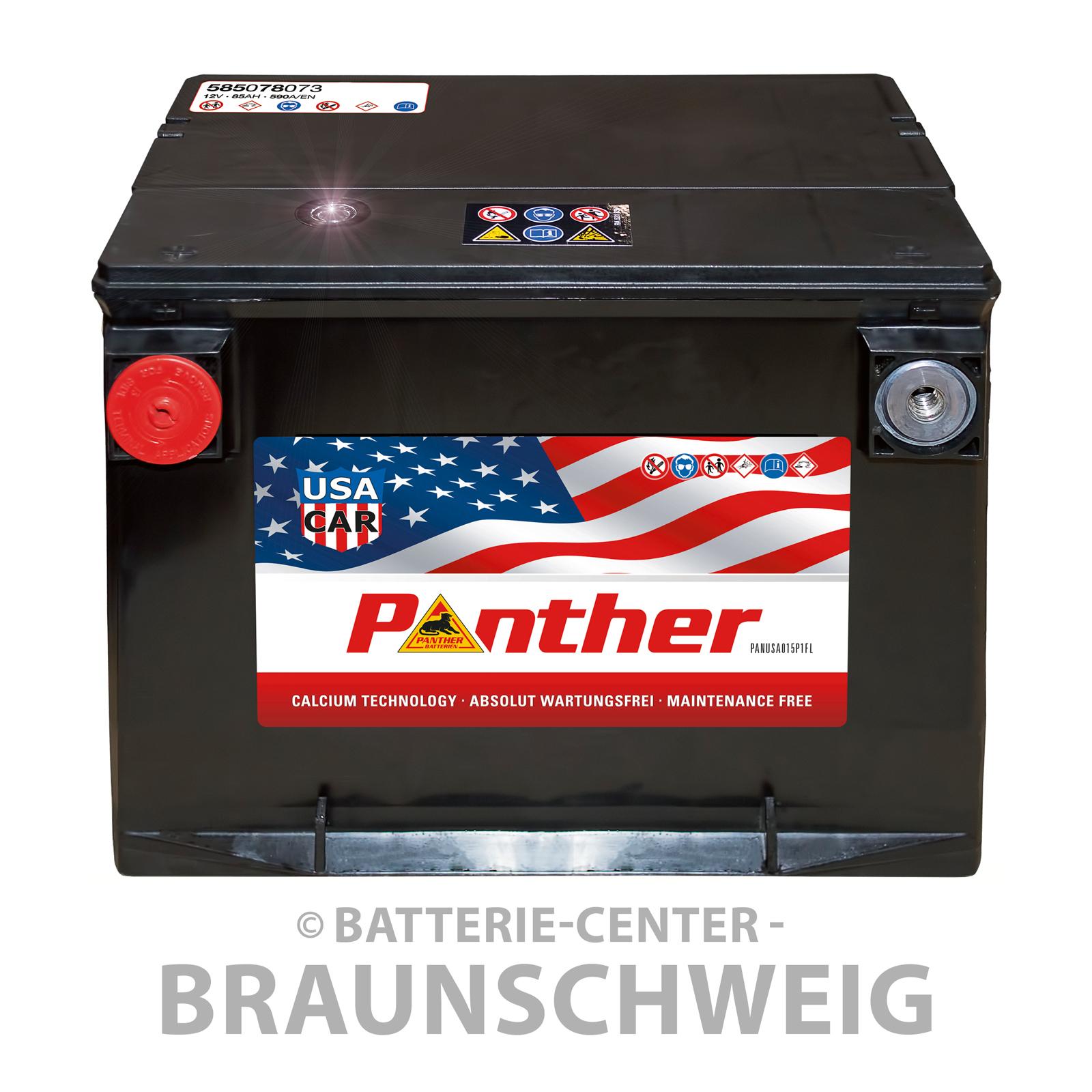 panther us car 12 v 85 ah starterbatterie kfz pkw us. Black Bedroom Furniture Sets. Home Design Ideas